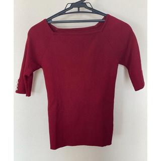 アラマンダ(allamanda)の袖口パールリブニット(ニット/セーター)