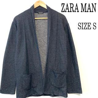 ザラ(ZARA)のZARA MAN ザラ ショールカラー カーディガン ネイビー S(カーディガン)