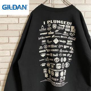 ギルタン(GILDAN)の90s 古着 ギルダン スウェット ビッグプリント 両面プリント ゆるだぼ(スウェット)