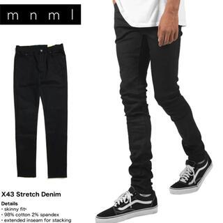 mnml ミニマル X43 STRETCH DENIM BLACK パンツ(デニム/ジーンズ)