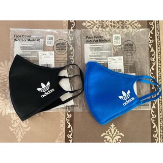adidas - アディダスadidas マスクカバー 黒、青 各1枚ずつ