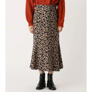 アズールバイマウジー(AZUL by moussy)のレオパードマーメイドスカート(ロングスカート)