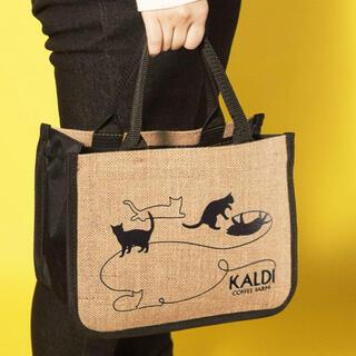 カルディ(KALDI)のKALDI ネコの日バッグ&カレンダーのみ(トートバッグ)