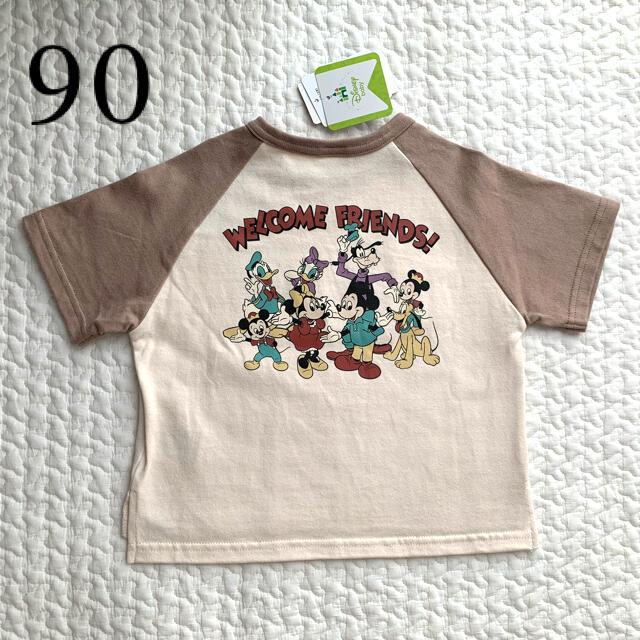 Disney(ディズニー)のfutafuta ミッキー ミニー レトロ 90 キッズ/ベビー/マタニティのキッズ服男の子用(90cm~)(Tシャツ/カットソー)の商品写真