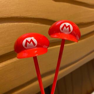ユニバーサルスタジオジャパン(USJ)のUSJ ユニバ 限定 マリオ 帽子 ピック 2本(キャラクターグッズ)