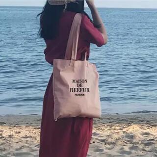dholic - 【匿名配送】ロゴプリント ピンク キャンバス トートバッグ【韓国】