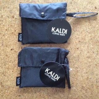 カルディ(KALDI)のカルディ オリジナル エコバッグ ブラック 2点(エコバッグ)