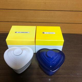 ルクルーゼ(LE CREUSET)のル・クルーゼラムカンダムール ホワイト•ブルー2個セット(食器)