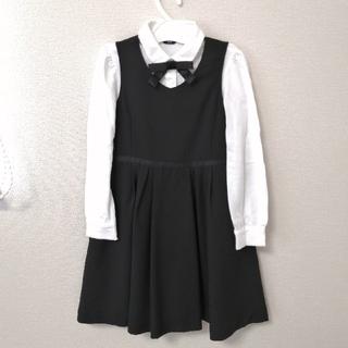 コムサイズム(COMME CA ISM)のコムサイズム ジャンバースカート&ブラウスセット 120cm  入学式 卒園式(ドレス/フォーマル)