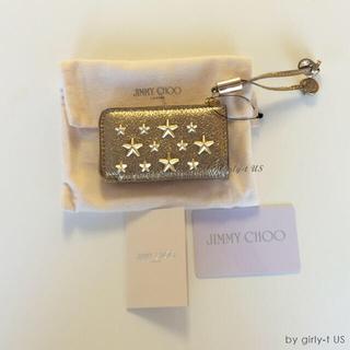 ジミーチュウ(JIMMY CHOO)の新品 ☆Jimmy Choo☆ ROMA スタッズ コインケース GOLD(コインケース)