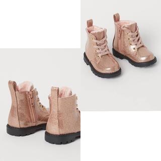 エイチアンドエム(H&M)のH&Mベビーフェイクレザーブーツ 22(13.5cm)(ブーツ)