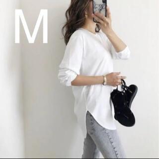 ユニクロ(UNIQLO)のユニクロ コットンロングシャツテールT(長袖)M(Tシャツ(長袖/七分))