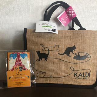カルディ(KALDI)のカルディ  ネコの日 オリジナルバッグ&カレンダー(トートバッグ)