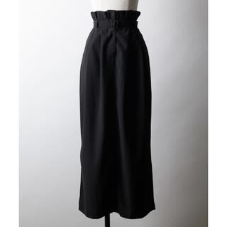 ラベルエチュード(la belle Etude)のla belle etude ハイウエストLong Iラインスカート ブラック(ロングスカート)