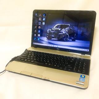 エヌイーシー(NEC)のCorei5で快適|つやありゴールド|すぐ使える|NEC|希少|テンキー(ノートPC)