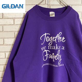ギルタン(GILDAN)の90s 古着 ギルダン スウェット プリント ゆるだぼ ビッグシルエット(スウェット)