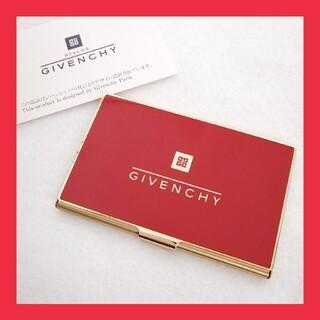 ジバンシィ(GIVENCHY)のジバンシー 名刺入れ カードケース レッド(名刺入れ/定期入れ)