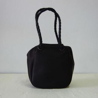 ヤエカ(YAECA)のnuitomeru ヌイトメル 巾着バッグMショートサイズ BK(ハンドバッグ)