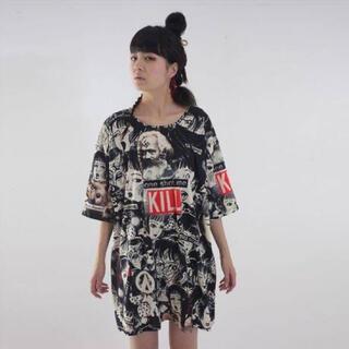 ミルクボーイ(MILKBOY)のmeewee dinkee 少女椿 コラージュTシャツ(Tシャツ(半袖/袖なし))