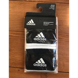 adidas - 【新品】アディダス テニス用リストバンド 黒