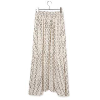 ViS - VIS ꕤ 【WEB限定】小花柄裾切り替えフレアスカート