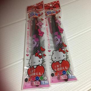 セーラー(Sailor)のキティ5色ボールペン+シャープペンシル 黒2本(ペン/マーカー)