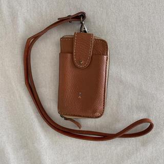 エンリーべグリン(HENRY BEGUELIN)のお値下げ♪エンリーベグリン ♪ストラップ付きカード入れ&お財布(ショルダーバッグ)