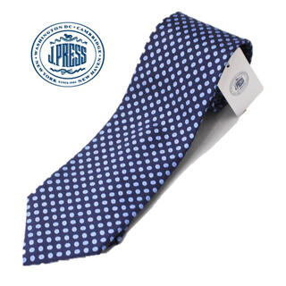 ジェイプレス(J.PRESS)の《ジェイプレス》新品 イギリス製生地 シルク100% 小紋柄ネクタイ プレゼント(ネクタイ)