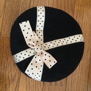 Shirley Temple - シャーリーテンプルドットリボンベレー帽黒 エミリーテンプルキュート等お好きな方に
