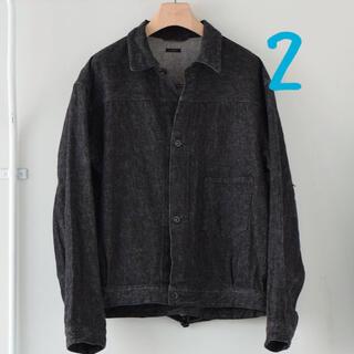 COMOLI - サイズ2 comoli コモリ 21ss デニムジャケット ブラック エクリュ