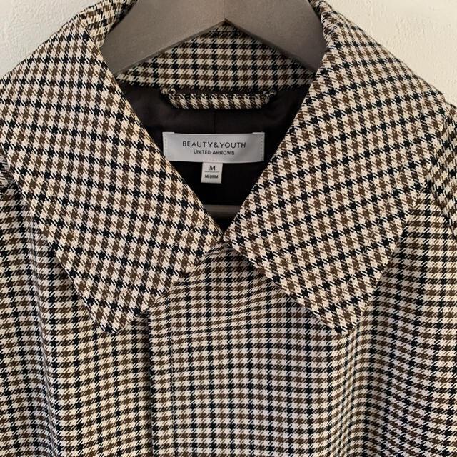 BEAUTY&YOUTH UNITED ARROWS(ビューティアンドユースユナイテッドアローズ)のbeauty&youth ガンクラブチェックコート Mサイズ メンズのジャケット/アウター(ステンカラーコート)の商品写真