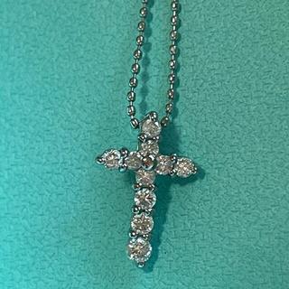 Pt900 クロスダイヤモンドネックレス 美品(ネックレス)