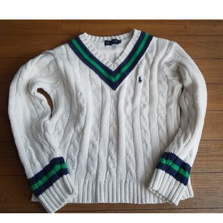 Ralph Lauren - Ralph Lauren ニット 120cm 白