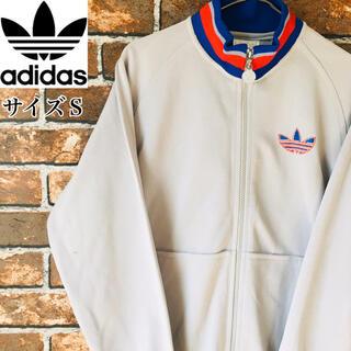 adidas - 【希少】アディダスadidas ジャージブルゾン グレー ワンポイントロゴ90s