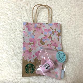 スターバックスコーヒー(Starbucks Coffee)の紙袋付き SAKURA2021スターバックスミニカップギフト(小物入れ)