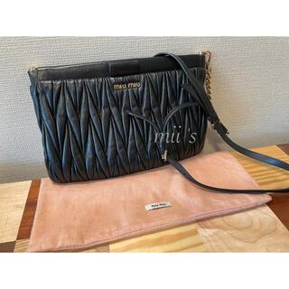 miumiu - miu miu ミュウミュウ 5BH356 マトラッセ ショルダーバッグ