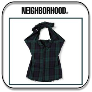 NEIGHBORHOOD - ネイバーフッド シャツバッグ 日本製 グリーン(ブラックウォッチ チェック柄)