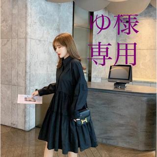 ザラ(ZARA)のStella tokyo Aラインブラックシャツワンピース(ひざ丈ワンピース)
