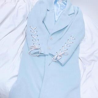 ロザリームーン(Rosary moon)の匿名配送 ♡ ロザリームーン 水色 ロングコート(ロングコート)