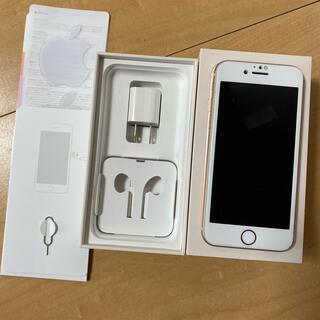 アップル(Apple)の【美品】iPhone8 64G ピンクゴールド(スマートフォン本体)