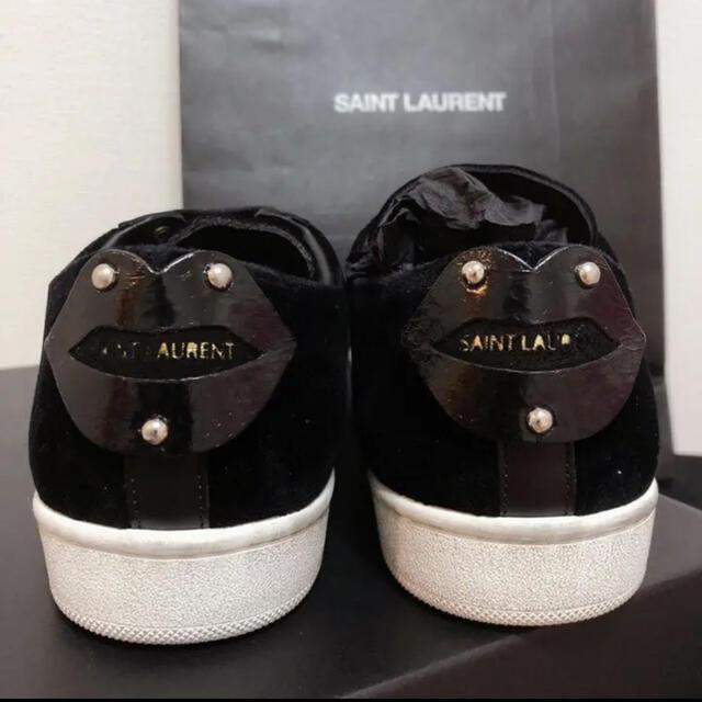 Saint Laurent(サンローラン)のサンローラン レディース スニーカー ブラック 36サイズ レディースの靴/シューズ(スニーカー)の商品写真