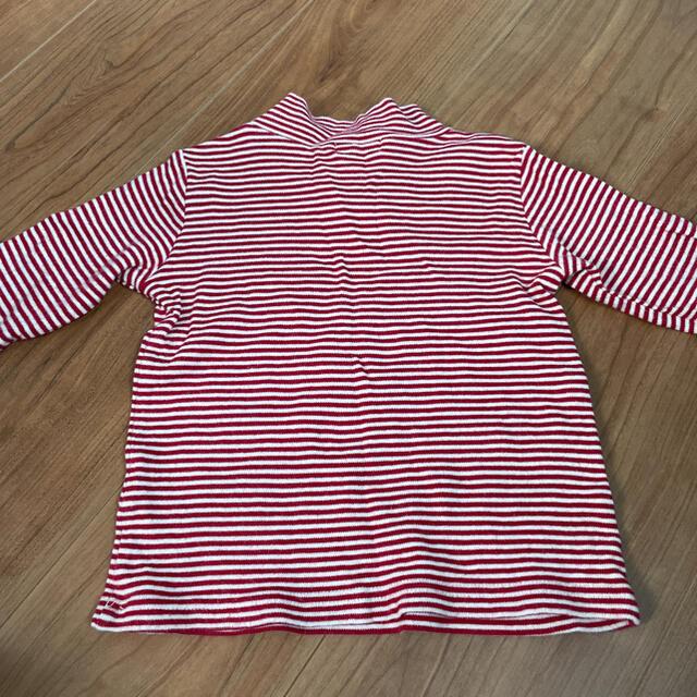 3can4on(サンカンシオン)の3can4on ボーダーロンT 95㎝ キッズ/ベビー/マタニティのキッズ服女の子用(90cm~)(Tシャツ/カットソー)の商品写真