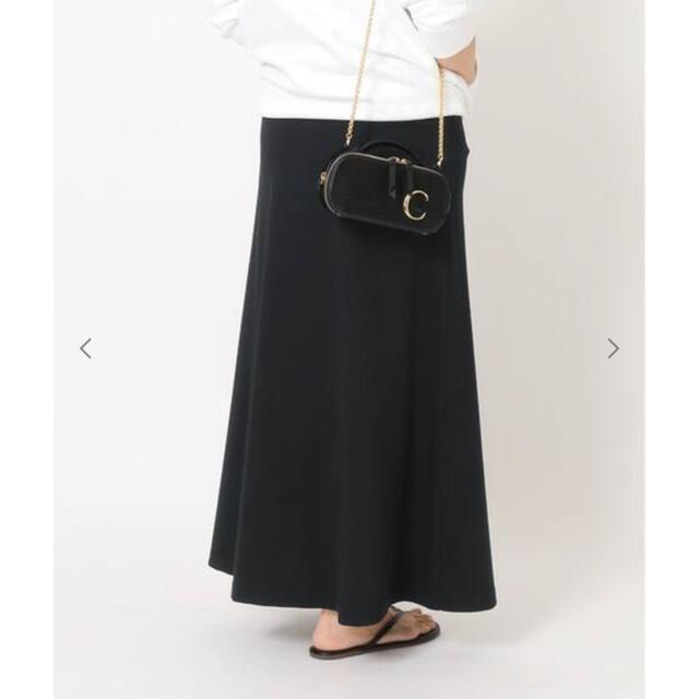 DEUXIEME CLASSE(ドゥーズィエムクラス)のDEUXIEME CLASSE  Jersey フレアスカート ブラック 完売 レディースのスカート(ロングスカート)の商品写真