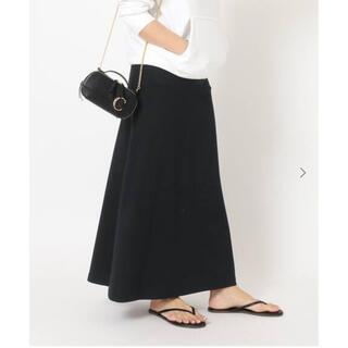 DEUXIEME CLASSE - DEUXIEME CLASSE  Jersey フレアスカート ブラック 完売