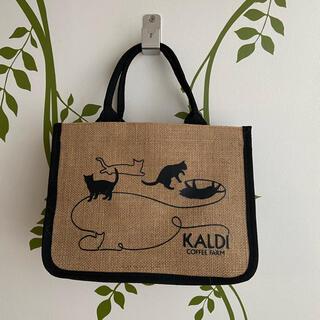 カルディ(KALDI)のカルディ ネコの日バック ジュート素材(トートバッグ)