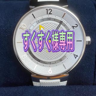 ルイヴィトン(LOUIS VUITTON)の【美品】コンプリート LOUIS VUITTON タンブール ムーン GMT(腕時計(デジタル))