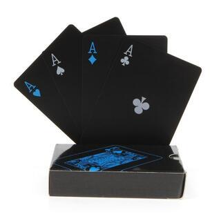 ctg27 ブラック トランプ カッコいい 遊び ポーカー マジック おもしろ(トランプ/UNO)
