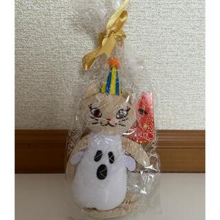 カルディ(KALDI)の🌟KALDI くたくたネコちゃん&ミニ缶(三毛猫)🌟(ぬいぐるみ)