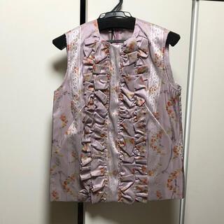 ミュウミュウ(miumiu)のmiumiu フリルブラウス(シャツ/ブラウス(半袖/袖なし))