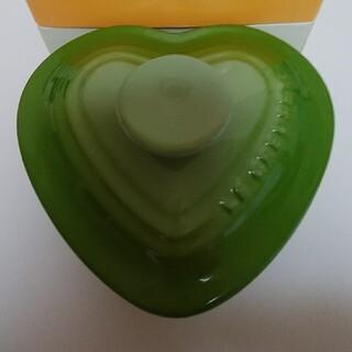 ルクルーゼ(LE CREUSET)のル・クルーゼ   ハートラムカン   緑(食器)